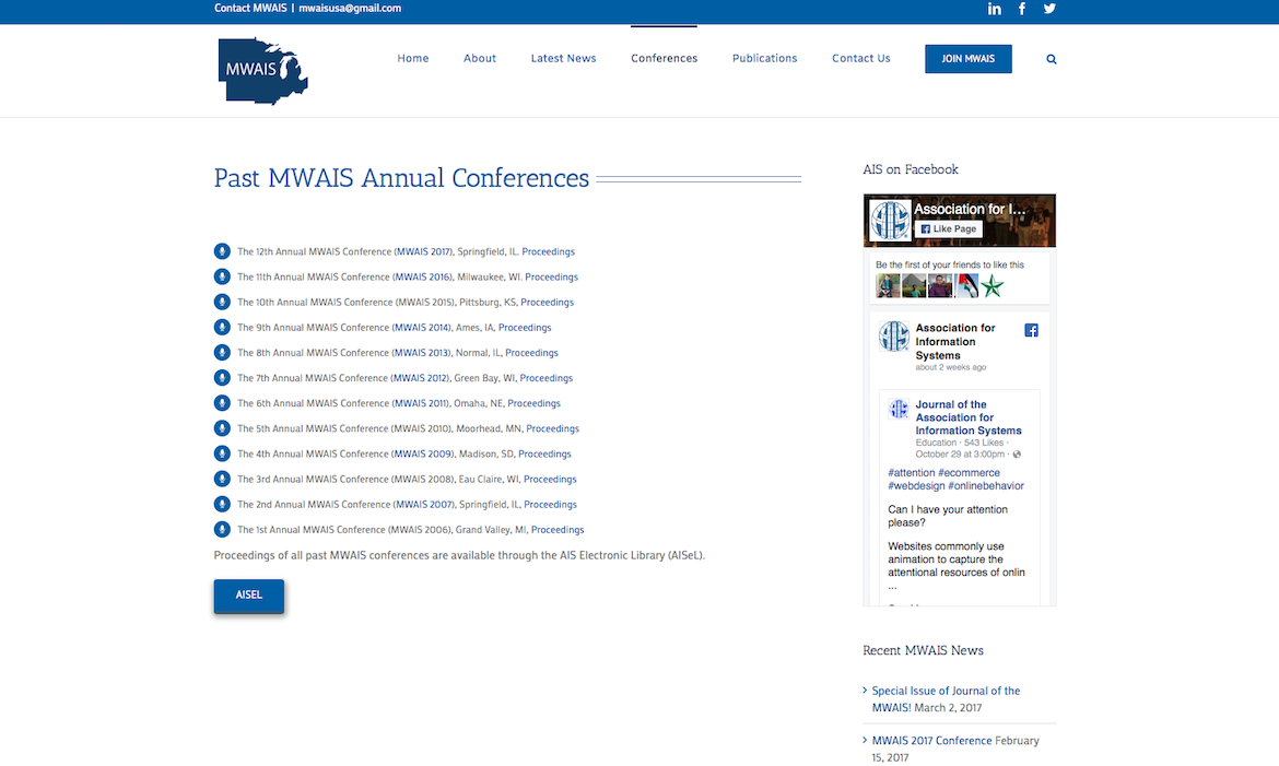 MWAIS Past meetings page