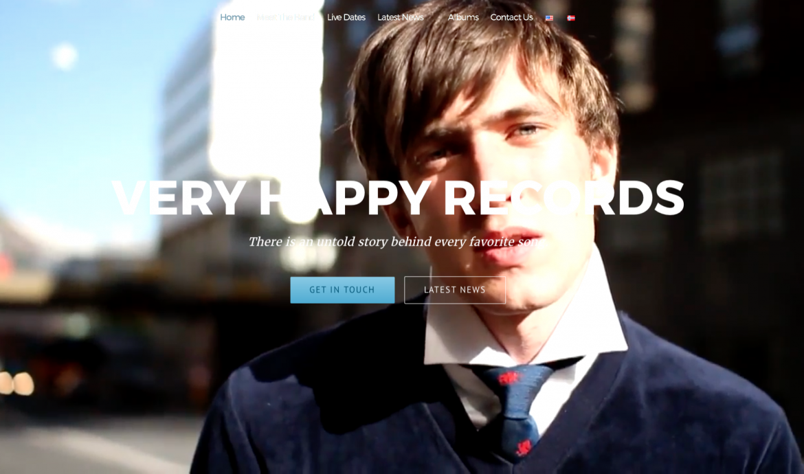 Very Happy Records Home page