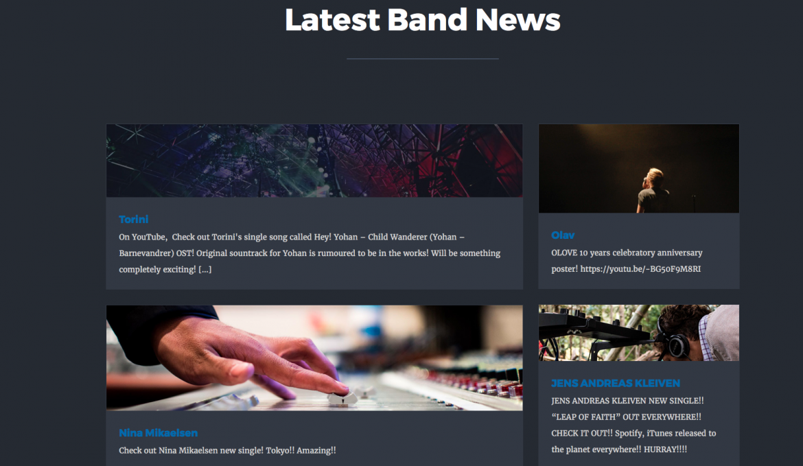 Very Happy Records News page